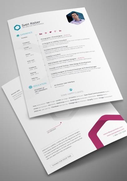 6 templates pour faire votre CV   Trucs, Conseils et Astuces   Scoop.it