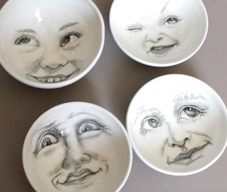 Crazy white moon bowl, faces of the moon | Good stuff to get | Scoop.it