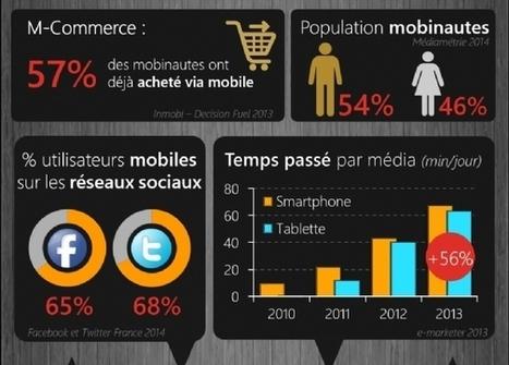 [Infographie] Les chiffres-clés 2014 du Mobile en France | Comarketing-News | Actualités des réseaux sociaux | Scoop.it