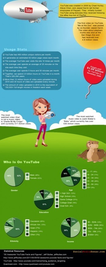 YouTube history [INFOGRAPHIC] | Digital-News on Scoop.it today | Scoop.it
