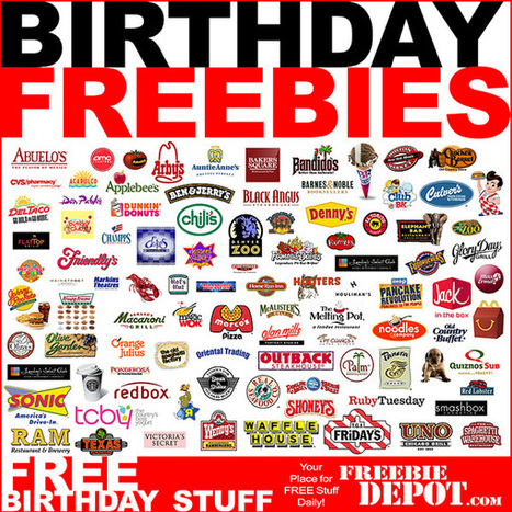 BIRTHDAY FREEBIES 2013 – FREE Birthday Food 2013, FREE Birthday Meals & FREE Birthday Stuff! | Freebie-Depot | Education Matters - (tech and non-tech) | Scoop.it