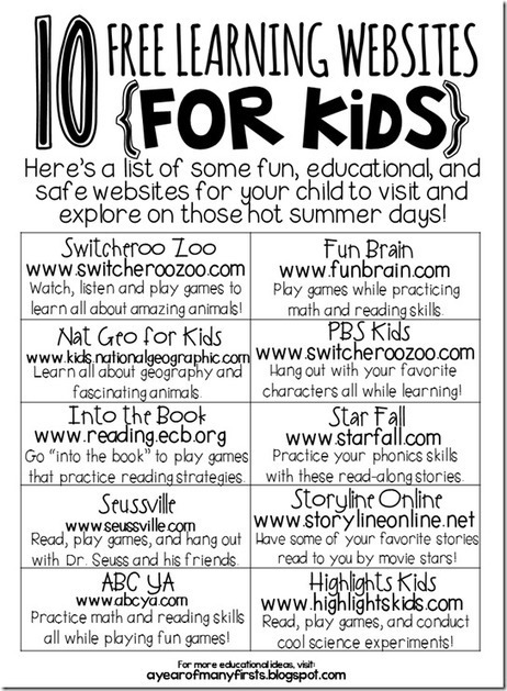 a year of many firsts: summer review websites for kids | Tools You Can Use | Scoop.it