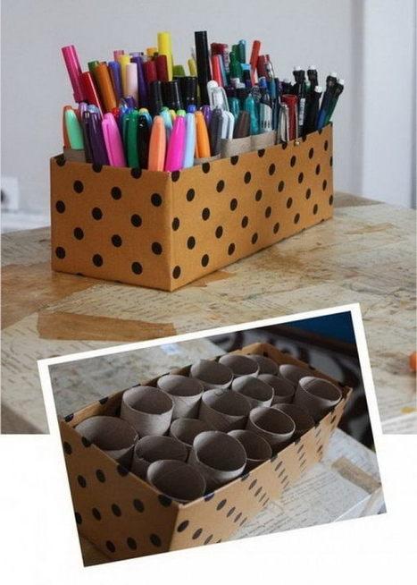 20 Creative Home Office Organizing Ideas - Hative | Organized Office Ideas | Scoop.it
