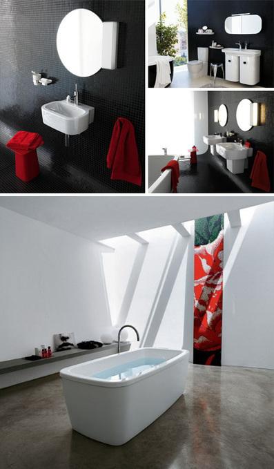Home Bathroom Fixtures: 10 Ideas for Tile, Tubs & Toilets   Designs & Ideas on Dornob   Bathrooms   Scoop.it