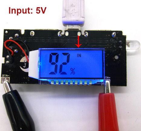 DC 3V to 5V Lithium Battery Charging Board LCD Display Double USB Output - Charger Module - Arduino, 3D Printing, Robotics, Raspberry Pi, Wearable, LED, development boardICStation   Modules   Scoop.it
