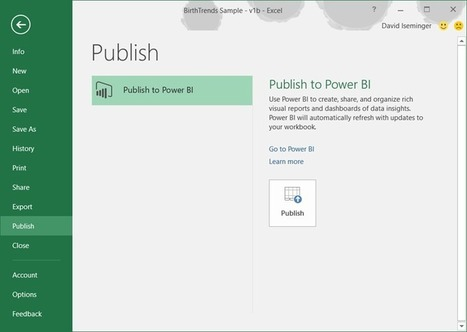 Share your Excel insights with Power BI - Office Blogs | News David Vallais | Scoop.it