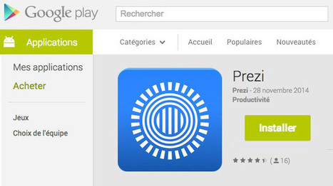 L'application Prezi enfin disponible sur Android ! | TICE, DOC & MEDIAS | Scoop.it