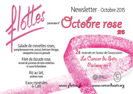 """FLOTTES : Octobre Rose en partenariat avec """"Le cancer du sein, Parlons-en!""""   Gastronomie Française 2.0   Scoop.it"""