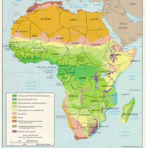 Thematic map of Africa | Special Purpose Maps | Scoop.it