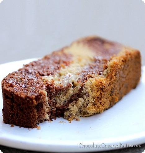 Chocolate Marble Swirl Banana Bread - Chocolate Covered Katie | Veggie & vegan desserts | Scoop.it