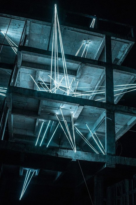 #Artist Installs #Giant 4-Story #LED #Star in #Abandoned #Building. #art #installation | Luby Art | Scoop.it
