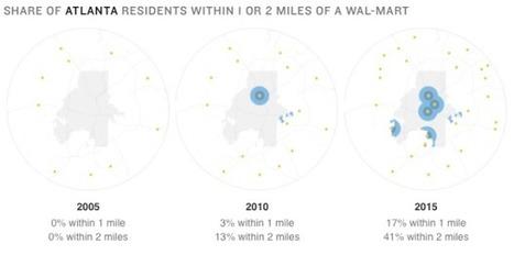 Growth of urban neighborhood Wal-Mart | Sustainability Science | Scoop.it