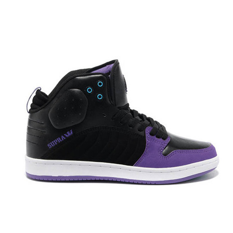 Supra S1W Black Purple Suede Stevie Williams-Mens Mid Sneakers | my style | Scoop.it
