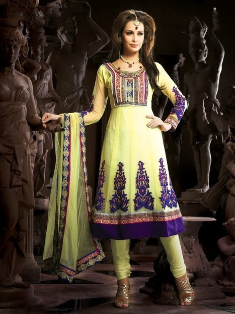 Gravity Fashion - Melodic Pale Gold Color Salwar Kameez | If loving Fashion is a Crime, We Plead Guilty | Scoop.it