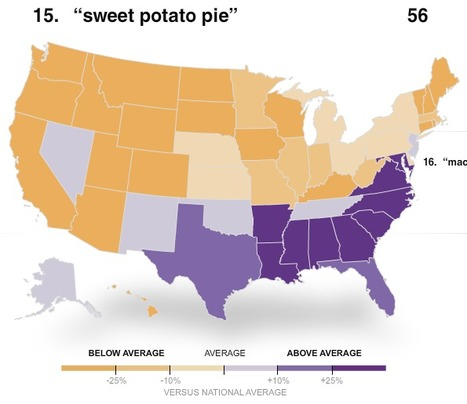 NYTimes: The Geography of Thanksgiving Foods | AP HUMAN GEOGRAPHY DIGITAL  STUDY: MIKE BUSARELLO | Scoop.it