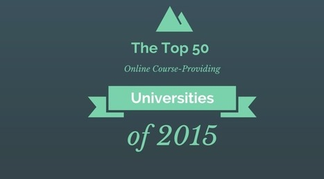 Top 50  Online Course-Providing Universities of 2015 | e-Learning, Diseño Instruccional | Scoop.it