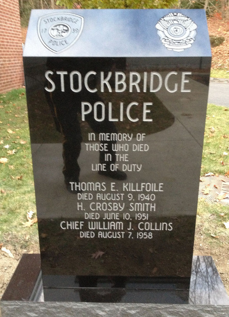 Stockbridge memorial honors three officers who died while on duty - Berkshire Eagle | Memorial, Monument and Mausoleum Designers | Scoop.it