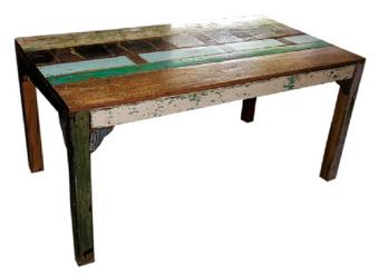 Tavolo da pranzo in legno riciclato decorativ - Tavolo legno riciclato ...