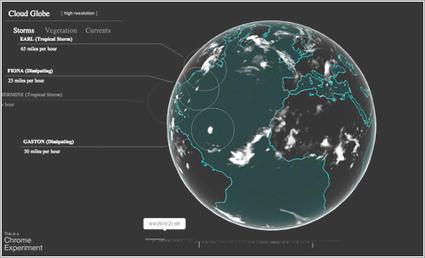 Las nubes de nuestro planeta vistas de otra forma por Google | CEREGeo - Geomática | Scoop.it