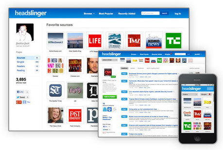 Organize and Monitor the Latest Content from Your Favorite Sites with Headslinger | Gestion de l'information | Scoop.it