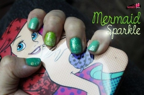 MANICyours: Mermaid Sparkle / Emerald Pantone Colour of the Year Nails | Women Fashion Accessories | Scoop.it