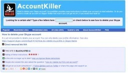 AccountKiller. Comment supprimer vos comptes su... | MBA Social Media Management | Scoop.it