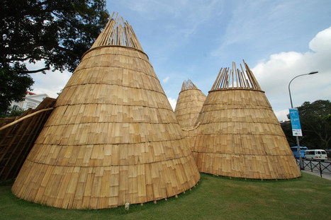Eko Prawoto: pitches wormhole with conical bamboo structures | Art Installations, Sculpture, Contemporary Art | Scoop.it