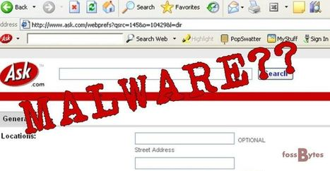 Ask Toolbar in Your Browser is a Malware: Microsoft   SME Cyber Security   Scoop.it