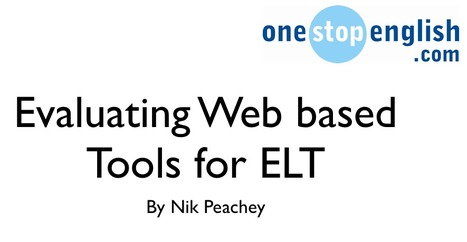 Evaluating web-based tools for language instruction | Language in technology | Scoop.it
