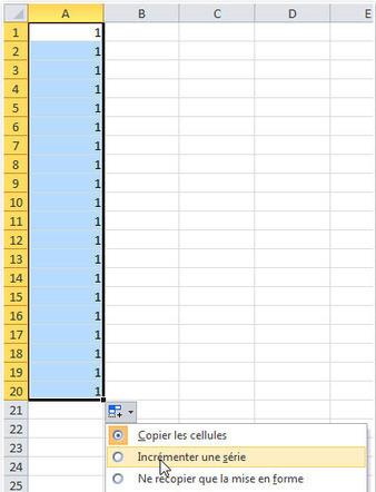 Cours Excel : la recopie incrémentée - Tutoriel et Cours informatique | Cours Informatique | Scoop.it