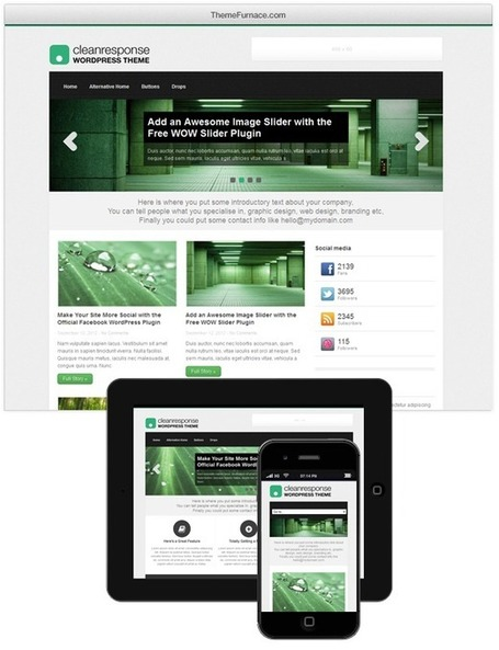 Free Responsive Multi-Purpose WordPress Theme | Great Finds in Webworld | Scoop.it