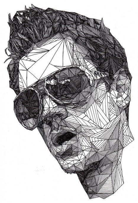Josh Bryan's Triangulations – Captivating Celebrity Portraits Made with Triangles | Strange days indeed... | Scoop.it