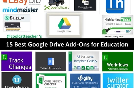 15 Best Google Drive Add-Ons for Education @coolcatteacher | SteveB's Social Learning Scoop | Scoop.it