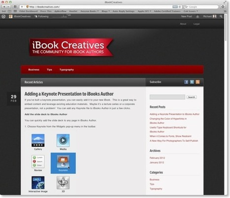 iBook Creatives –A new site about iBooks Author | Apple, Business | Innovative iPad integration | Scoop.it