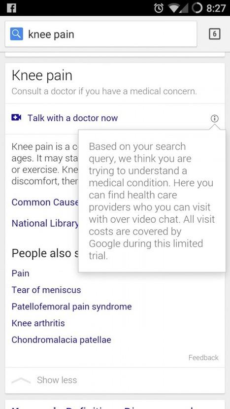 Google teste actuellement les diagnostics médicaux en ligne - FrAndroid | Scoop.it Sysico | Scoop.it