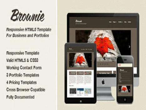 25 Best Free and Responsive Website Templates | BestDesignTuts | Web Design | Scoop.it