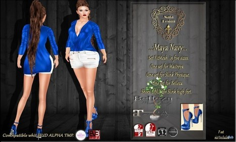 Maya Navy Top and Matching Shoes Teleport Hub Group Gift by Nala Design | Teleport Hub - Second Life Freebies | Second Life Freebies | Scoop.it