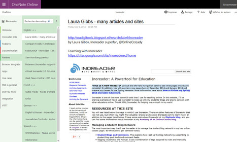 Inoreader to Microsoft OneNote Online: a great example of a public notebook   RSS Circus : veille stratégique, intelligence économique, curation, publication, Web 2.0   Scoop.it