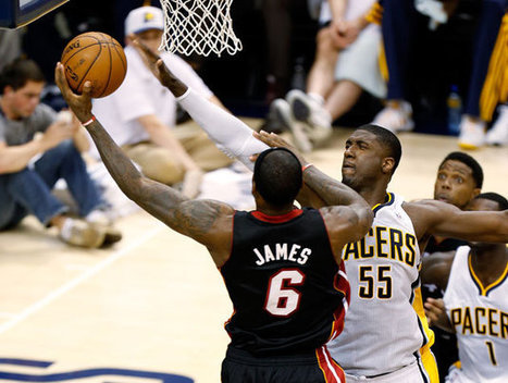 LeBron James and Roy Hibbert ply their trade   nba team news   Scoop.it