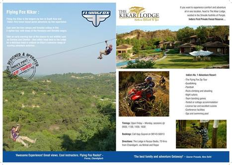 Book Your Tour Online For: Zipline India, Adventure Tour, Travel, Sports | Most Adventurous Aerial tour in India with Flying Fox | Scoop.it