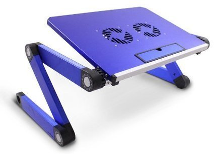 Lavolta DJ Laptop Stand Table Desk Tray with Cooling Pad for DJ Mixer Controller, Turntable Amplifier, Karaoke Machine, CD, MP3, MIDI Player - Blue | MixingMastering.co.uk | Scoop.it