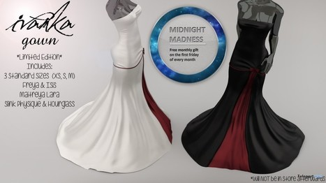 Ivanka Gown Red Duo Midnight Madness 24 Hour Gift by Apple May Designs | Teleport Hub - Second Life Freebies | Second Life Freebies | Scoop.it