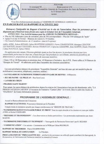 LA LETTRE DES AMIS DU PATRIMOINE RENNAIS - JANVIER 2014 | Les Amis du Patrimoine Rennais | Scoop.it