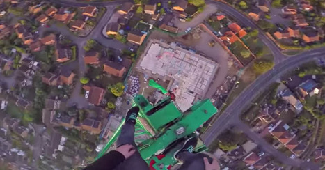 British 'adventurer' climbs down crane in stomach-rolling footage - video | Prozac Moments | Scoop.it