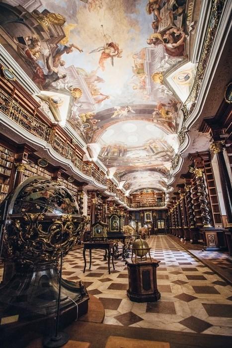 La plus belle bibliothèque du monde se trouve à Prague, un véritable paradis | Musées et bibilothèques à l'heure numérique | Scoop.it