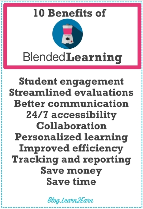 10 Benefits of Teaching in a Blended Learning Classroom | Educational technology | Learn2Earn | Academic Staff  Development | Scoop.it
