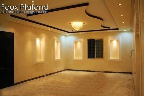 Faux plafond platre 2014 d coration et d for Decoration platre couloir