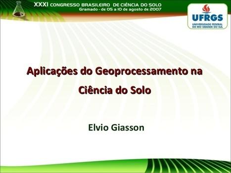 Aplicações do Geoprocessamento na Ciência do So... | #Geoprocessamento em Foco | Scoop.it