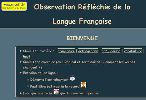 Observation Réfléchie de la Langue Française | Ressources libres CC-BY-NC | langage | Scoop.it