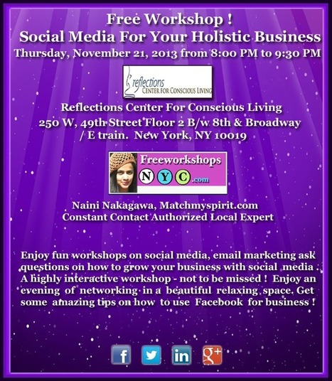 Free Workshop! Social Media for Your Holistic Business | Matchmyspirit Holistic Network | Social Media Collaboration | Scoop.it